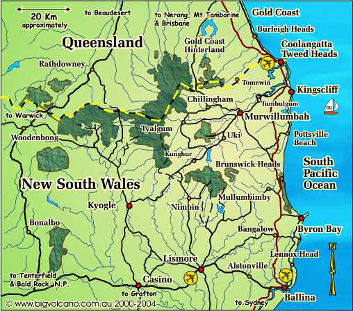 Clickable locality map for the Ballina Byron Bay Tweed Coast
