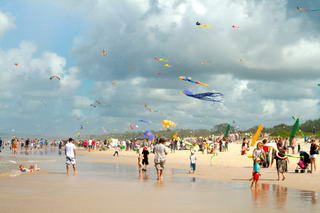 Kites on the beach © Kites'n' Bikes C'tee