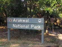 Arakwal National Park entrance sign