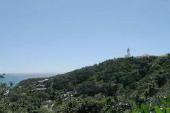 Cape Byron State Conservation Area and lighthouse as seen from Lighthouse Road