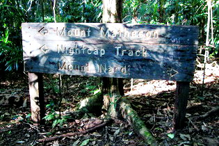 Nightcap Track sign