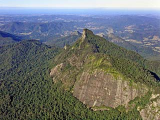 Mt Warning from the air