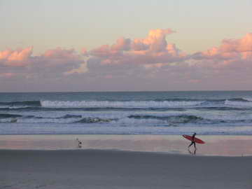 Cabarita Beach at sunset.  Purchase this image